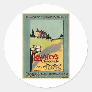 Lowney's Cocoa Round Sticker