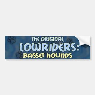 Lowrider Basset Hound Bumper Sticker