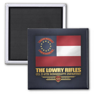 Lowry Rifles Square Magnet
