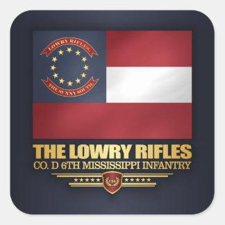 Lowry Rifles Square Sticker