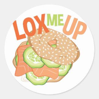 Lox Me Up Round Sticker