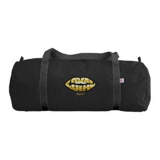 LOYAL Duffle Gym Bag, Black with Black straps
