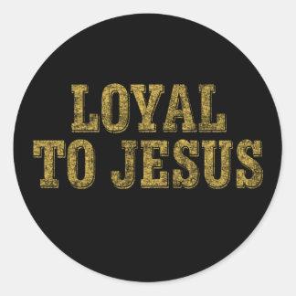 Loyal to Jesus Classic Round Sticker