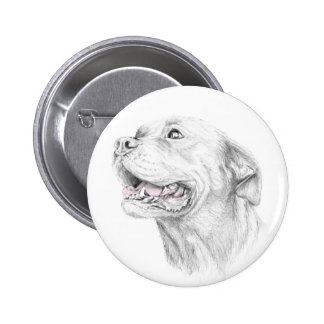 Loyalty, An American Staffordshire Terrier 2 Inch Round Button