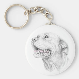 Loyalty, An American Staffordshire Terrier Basic Round Button Keychain