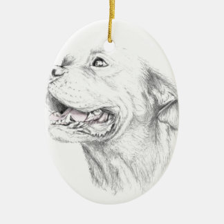 Loyalty, An American Staffordshire Terrier Ceramic Oval Ornament