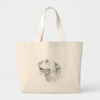 Loyalty, An American Staffordshire Terrier Large Tote Bag