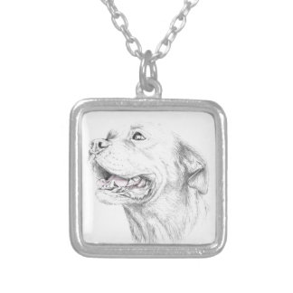 Loyalty, An American Staffordshire Terrier Silver Plated Necklace
