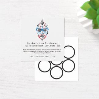 loyalty barbershop sugar skull square business card