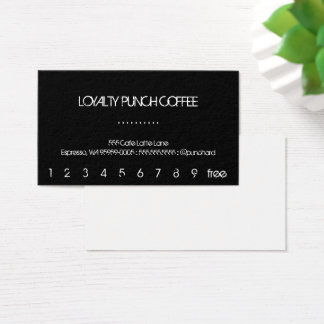 Loyalty Black Coffee Punch-Card Business Card