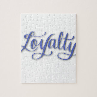 LOYALTY CALLIGRAPHY JIGSAW PUZZLE