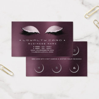 Loyalty Card Beauty Salon Makeup Coffe Noir