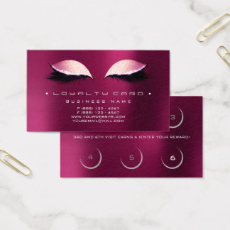 Loyalty Card Beauty Salon Makeup Rose Raspberry Go