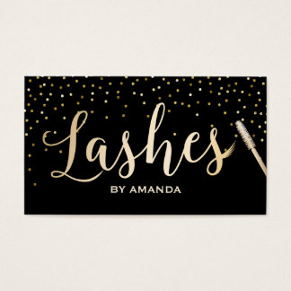 Loyalty Card | Lashes Makeup Artist Black & Gold