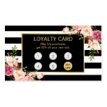 Loyalty Card Vintage Gold Floral Beauty Salon Business Card