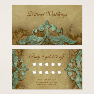 Loyalty Card Vintage Verdigris Wedding Planner