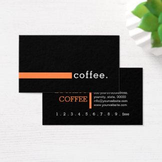 Loyalty Coffee Punch Modern Mango Tango Business Card