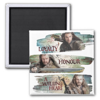Loyalty, Honor, A Willing Heart Square Magnet
