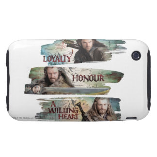 Loyalty, Honor, A Willing Heart Tough iPhone 3 Cases