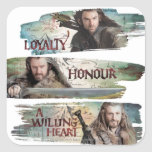Loyalty, Honour, A Willing Heart Square Stickers