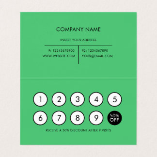 Loyalty Modern Minimalist Emerald Business Card