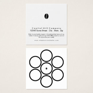 loyalty program coffee square square business card