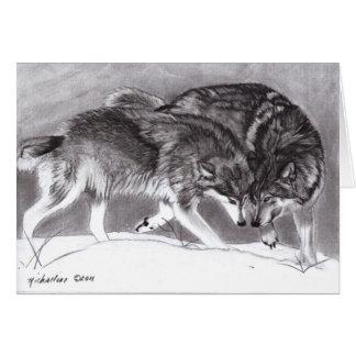 Loyalty Wolves Greeting Card