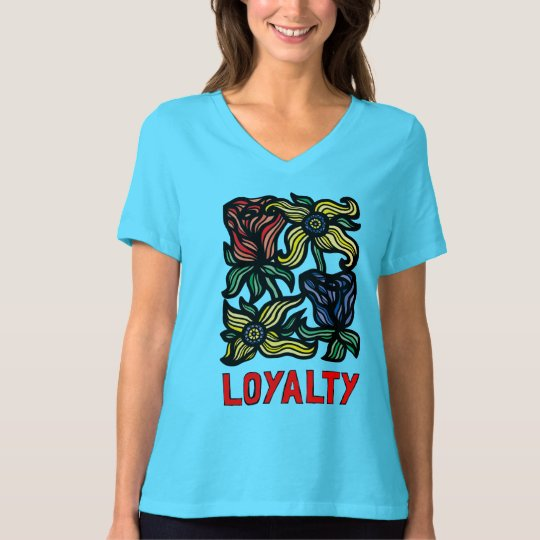 """Loyalty"" Women's Relaxed Fit V-Neck T-Shirt"