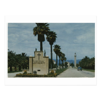 Loyola University Campus Entrance (ca. 1968) Postcard