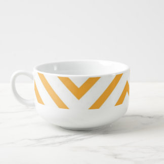 Lozenge shaped geometric pattern soup mug