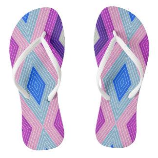 Lozenges Pattern Flip Flops