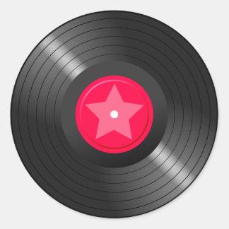 LP Record02 Round Sticker