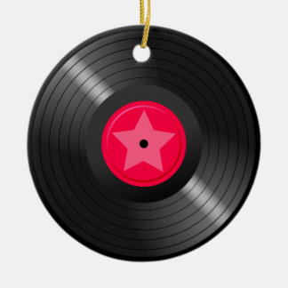 LP Record Ceramic Ornament