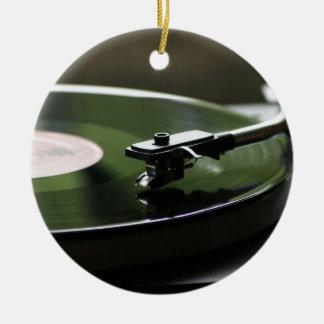 LP Record player... Ceramic Ornament