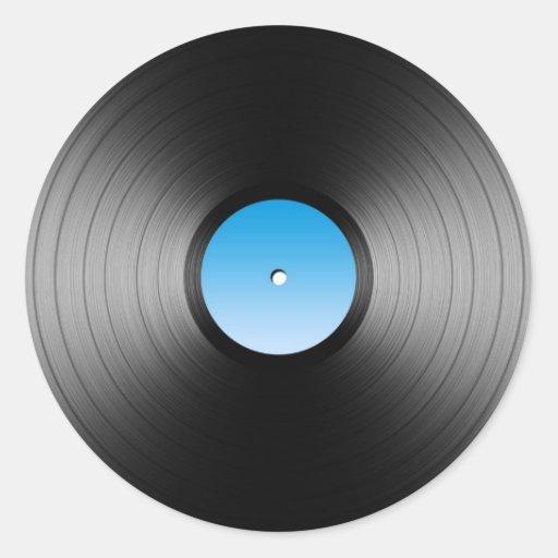 Lp Record Round Sticker Zazzle