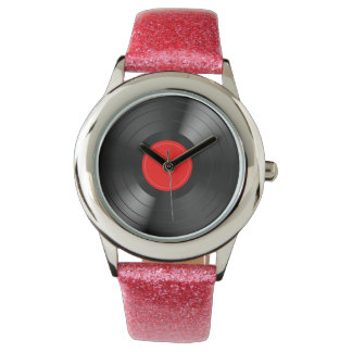 LP Record Wrist Watches
