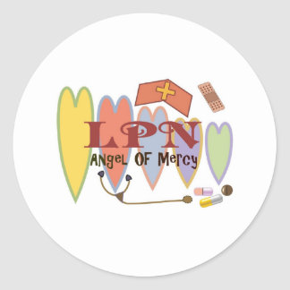 """LPN """"Angel of Mercy"""" Gift Products Classic Round Sticker"""