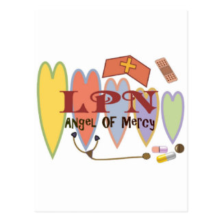 """LPN """"Angel of Mercy"""" Gift Products Postcard"""