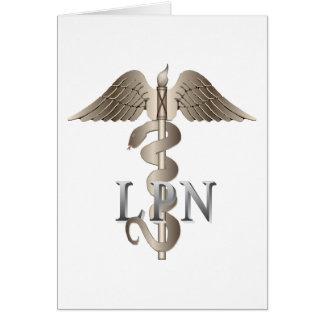 LPN Caduceus Card