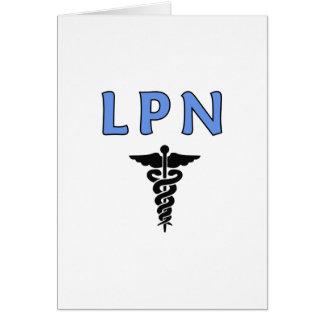 LPN Caduceus Note Card