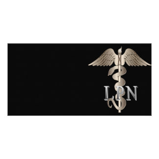 LPN Caduceus Photo Greeting Card