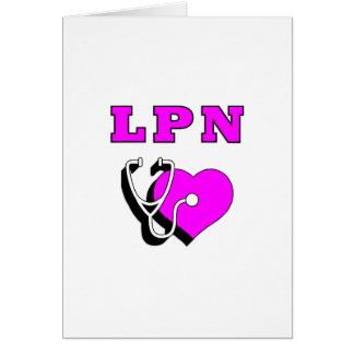 LPN Care Note Card