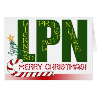 LPN CHRISTMAS LICENSED PRACTICAL NURSE CARD