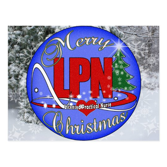 LPN CHRISTMAS MERRY LICENSED PRACTICAL NURSE POSTCARD