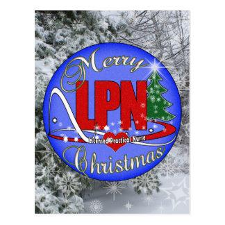 LPN CHRISTMAS MERRY LICENSED PRACTICAL NURSE POSTCARD