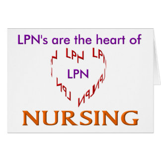 LPN Heart Greeting Card