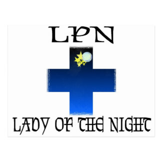 LPN-Lady of The Night Postcard