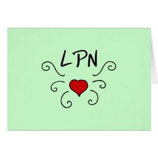 LPN Love Tattoo Note Card
