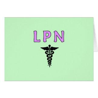 LPN Medicalt Note Card