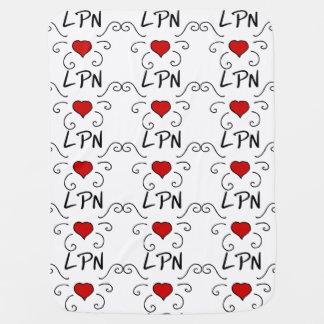 LPN Nurse Love Tattoo Stroller Blanket